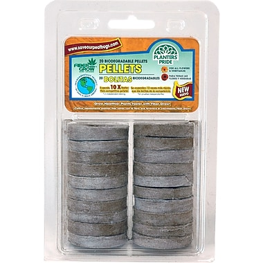 Planters Pride RZE00420-4 50 Count Fiber Grow Pellet Refills, Brown