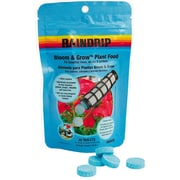 Rain Drip R680CB Bloom and Grow Plant Food Tablets, 30 Count