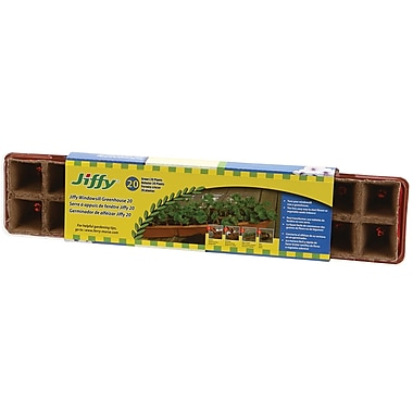 Jiffy TS20H Windowsill Greenhouse 20 Cell, Brown