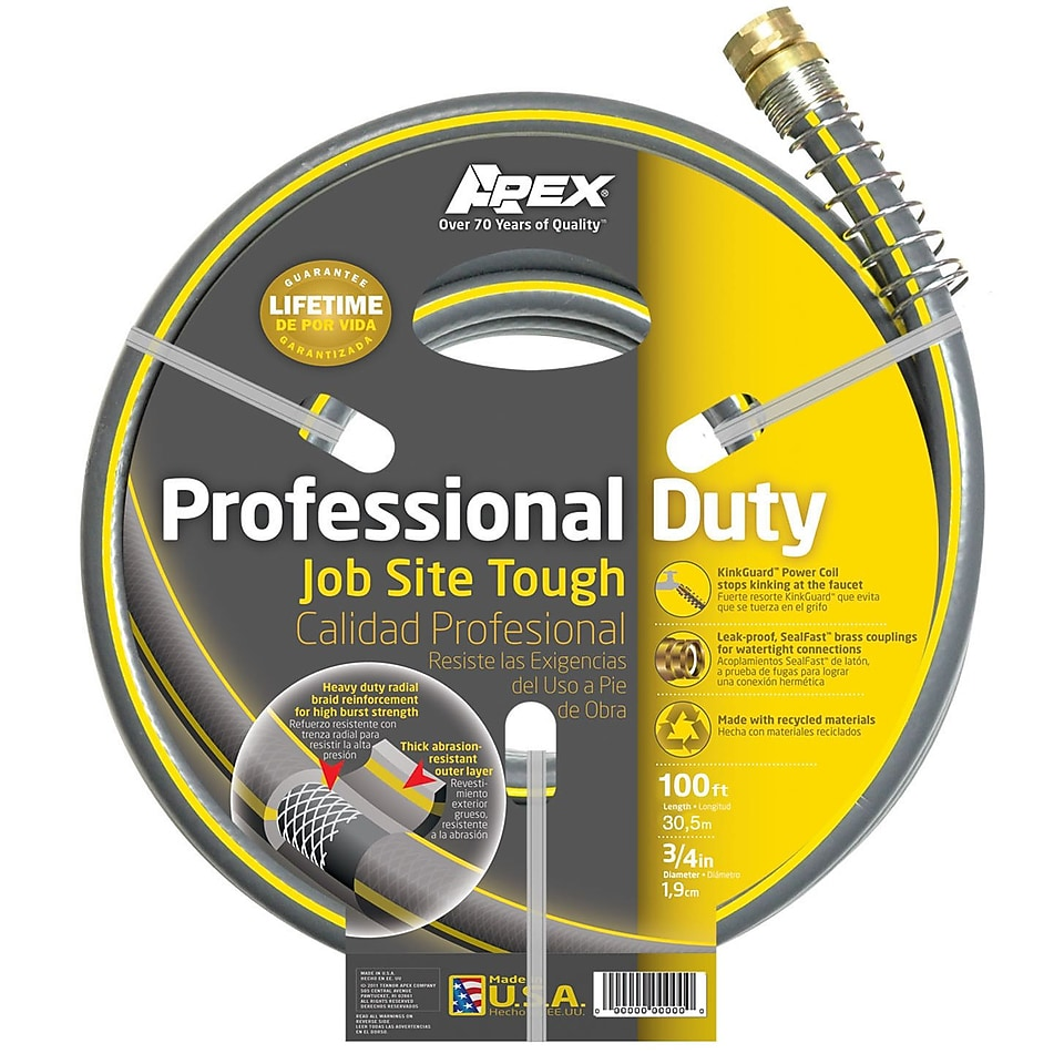 Teknor Apex 988VR 100 3/4 x 100 Professional Duty Garden Hose