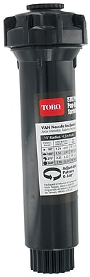 """""Toro 53813 4"""""""" Pop-up Fixed Spray Stationary Sprinkler, Black"""""" 1258641"