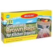 Ralston Biosak 50303 Drawstring Kitchen Trash Bag, 3 Gallon Bags, 20 per Carton