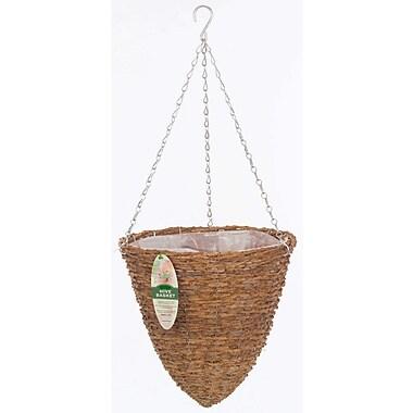 Gardman r298 14 rustic rattan hanging hive basket staples - Wicker beehive basket ...