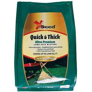 X-Seed 20226 Granular Ultra Premium Quick and Thick Lawn Seed Mixture, 7 lbs.