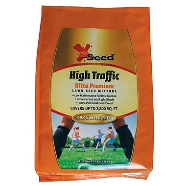 X-Seed 20228 Granular Ultra Premium High Traffic Lawn Seed Mixture, 7 lbs.