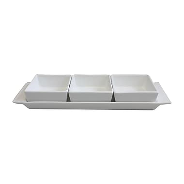 K-Line 5oz Square Bowl, Bright White