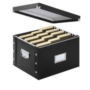 Snap-N-Store® PVC/Fiberboard File Box, Letter/Legal, Black