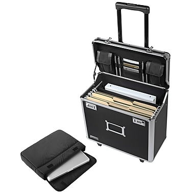 Vaultz® Metal Mobile Business Case, Legal, Black