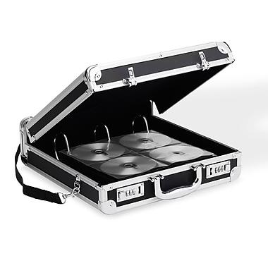 Vaultz® 200 Capacity Locking Media Binder, Black
