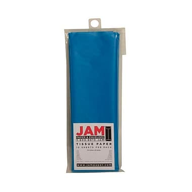 JAM Paper® Tissue Paper, Bright Blue, 10 packs of 10 (1152346g)