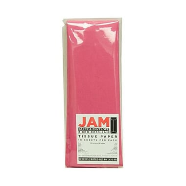 JAM Paper® Tissue Paper, Fuchsia Pink, 10 packs of 10 (1152351g)