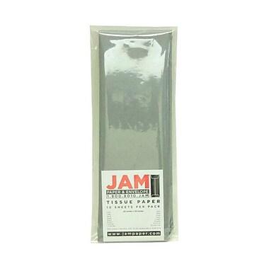 JAM Paper® Tissue Paper, Grey, 10 packs of 10 (1152357g)