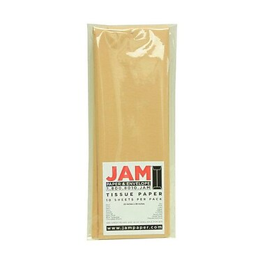 JAM Paper® Tissue Paper, Tan Brown, 10 packs of 10 (1152350g)