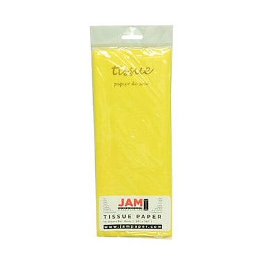 JAM Paper® Tissue Paper, Yellow, 10 packs of 10 (1152359g)