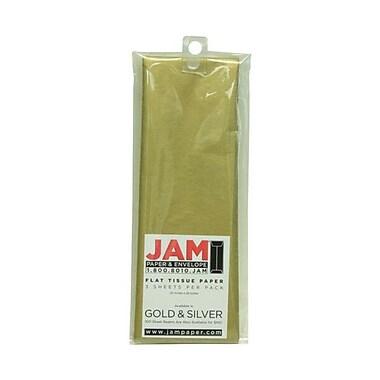 JAM Paper® Tissue Paper, Gold Flat, 15/Pack (7335485g)