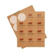 JAM Paper® Round Circle Label Sticker Seals, 2.5 inch diameter, Brown Kraft, 120/Pack (2147618897)