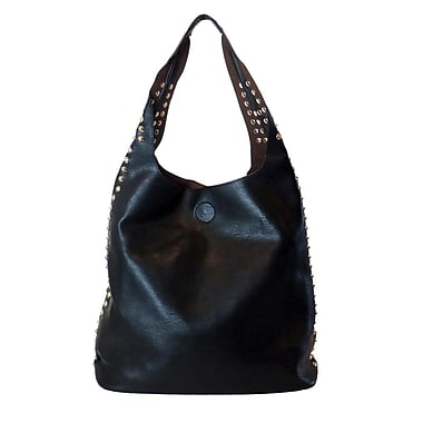 Lithyc Talisha 2 in 1 Studded Tote, Black
