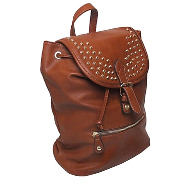 Lithyc Kai Vogue Studded Backpack, Brown