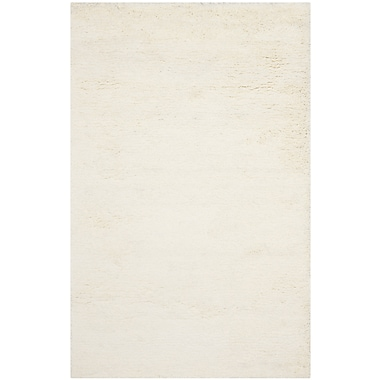 Safavieh Classic Shag Medium Rectangle Area Rug, 5' x 8', White