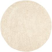 Safavieh Classic Ultra Shag Round Area Rug, 6' x 6', White