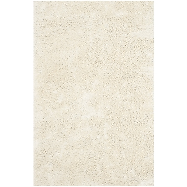 Safavieh Classic Ultra Shag Medium Rectangle Area Rug, 6' x 9', Ivory