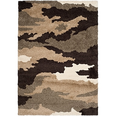 Safavieh Camouflage Shag Rectangle Area Rug, 4' x 6', Beige/Multi