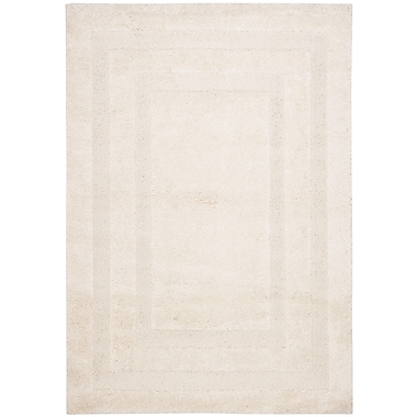 Safavieh Shadow Box Shag Small Rectangle Area Rug, 4' x 6', Cream