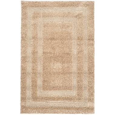 Safavieh Shadow Box Shag Small Rectangle Area Rug, 4' x 6', Beige