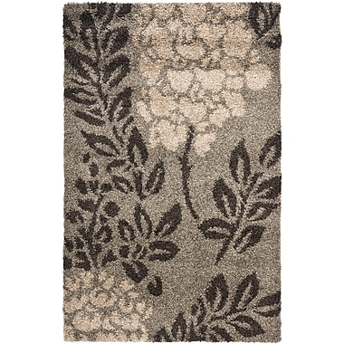 Safavieh Florida Ruby Shag Small Rectangle Area Rug, 4' x 6', Smoke/Dark Brown