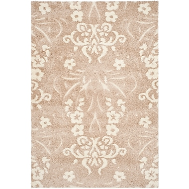 Safavieh Florida Veronica Shag Large Rectangle Area Rug, 8' x 10', Beige/Cream