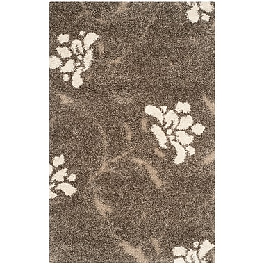 Safavieh Florida Erica Shag Small Rectangle Area Rug, 4' x 6', Smoke/Beige