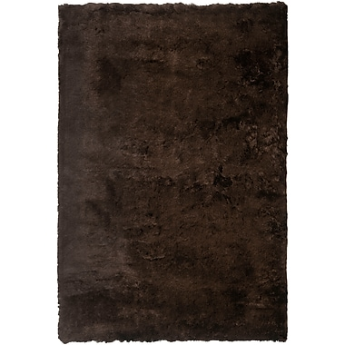 Safavieh Paris Shag Small Rectangle Area Rug, 3' x 5', Chocolate