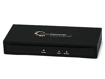 Monoprice DVI and S\/PDIF Digital Coax\/Optical Toslink Audio to HDMI Converter, Black