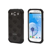 Monoprice® dotDefender Polycarbonate With Silicone Case For Samsung Galaxy S3, Black