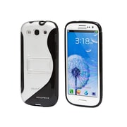 Monoprice® TPU Horizontal Stand Case For Samsung Galaxy S3, Black/Clear