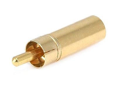 Monoprice Metal RCA Plug to 3.5mm Mono Jack Adapter, Gold 1256337