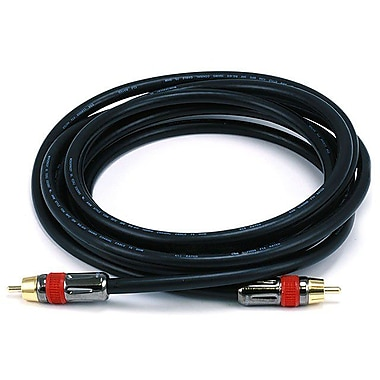 Monoprice® 10' CL2 High-Quality RCA Male to Male Audio/Video Coaxial Cable, Black