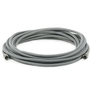 Monoprice® Premium 35' Optical Toslink Cable With Metal Fancy Connector, Gray