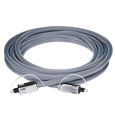 Monoprice® Premium 10' Optical Toslink Cable With Metal Fancy Connector, Gray