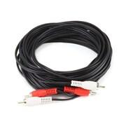 Monoprice® 25' 2-RCA Plug Male to Male Cable, Black