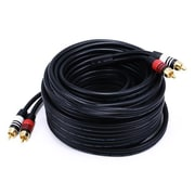 Monoprice® Premium 35' 2-RCA Plug Male to Male 22AWG Cable, Black