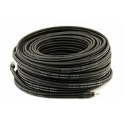 Monoprice® Premium 100' Gold Plated 3.5mm Stereo Male to Male 22AWG Cable, Black