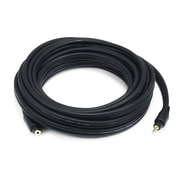 Monoprice® Premium 20' Gold Plated 3.5mm Stereo Male to Female 22AWG Extension Cable, Black
