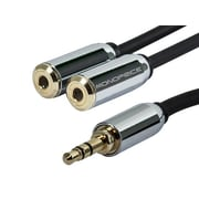 Monoprice® 6' 3.5mm Stereo Plug Male to Jack Female Cable For Mobile, Black