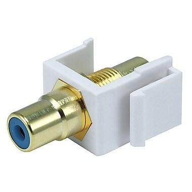 Monoprice® Modular RCA Keystone Jack With Blue Center, White