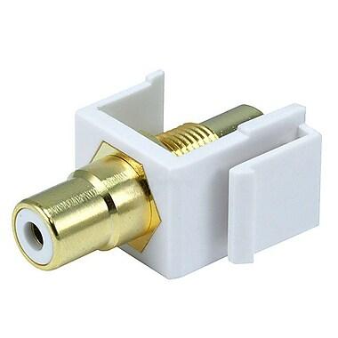 Monoprice® Modular RCA Keystone Jack With White Center, White