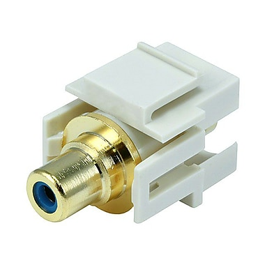 Monoprice® Flush Type Modular RCA Keystone Jacks With Blue Center