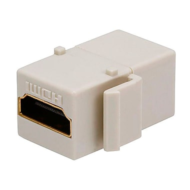 Monoprice® HDMI Female to Female Coupler Adapter Keystone Jack, Ivory
