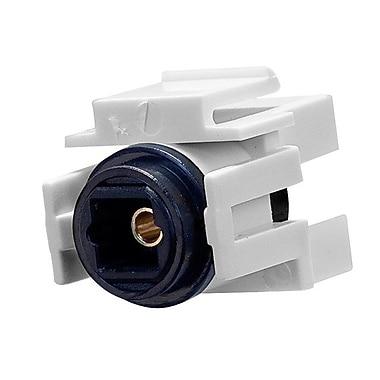 Monoprice® Toslink Female to Female Coupler Adapter Keystone Jack, White