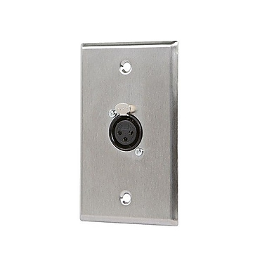 Monoprice® XLR Female 3 Pin One Port Zinc Alloy Wall Plate